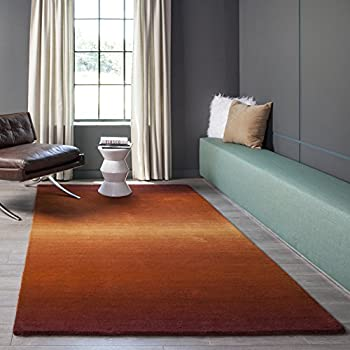 Momeni Rugs METROMT-12PAP5080 Metro Collection, 100% Wool Hand Loomed Contemporary Area Rug, 5 x 8, Paprika