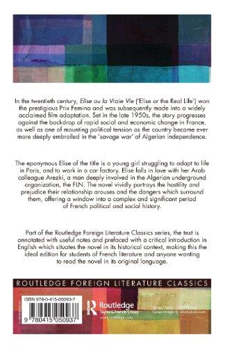 Elise Ou La Vraie Vie (Twentieth Century Texts)