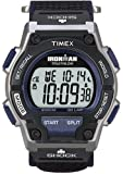 Timex Men's T5K198 Ironman Classic Shock 30-Lap Black/Blue Fast Wrap Velcro Strap Watch