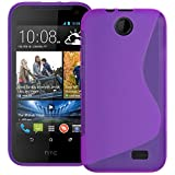 Purple S Curve XYLO-GEL Skin / Case / Cover for the HTC Desire 310 Mobile Phone.