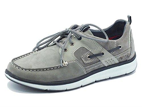 Scarpe per uomo Zen Air in nabuk grigio modello barca (Taglia 42)