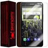 Skinomi TechSkin - Alcatel One Touch Idol OT-6030 / OT-6030D Screen Protector Ultra Clear Shield + Dark Wood Full Body Protective Skin + Lifetime Warranty