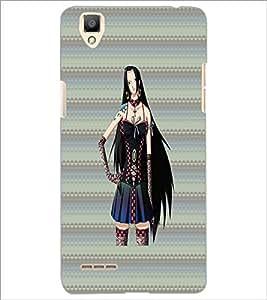 PrintDhaba Sweet Girl D-3083 Back Case Cover for OPPO F1 (Multi-Coloured)