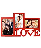 Love Collage 3 in one photo frame Red (38 cm x 23 cm)