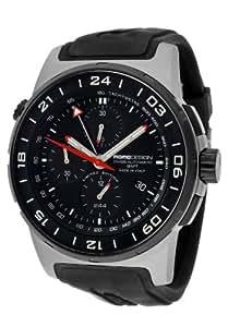 Momo Design Men's Titanium Pilot XL Chronograph Watch MD088-GMT-RB-VT-01BKBK