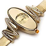 Retro Gold Leather Strap Brand Women Watch Strass Rhinestone Jewelry Quartz Wrist Watches