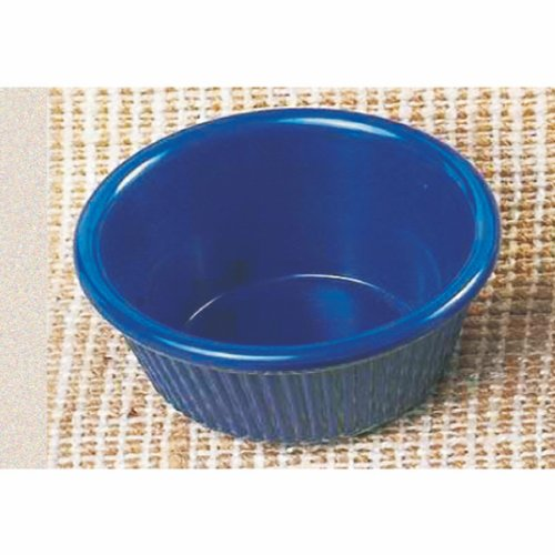 (Pack Of 12) 2 Oz. Fluted Melamine Ramekin / Sauce Cup Multi-Color - Break-Resistance *Nsf* (Cobalt Blue)