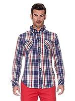 New Caro Camisa Hombre Poleo (Azul)
