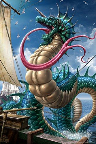 leviathan-tom-wood-fantasy-art-poster-12x18