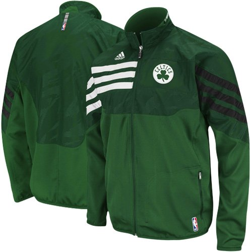 NBA adidas Boston Celtics Green On-Court East Full Zip Jacket (X-Large) at Amazon.com
