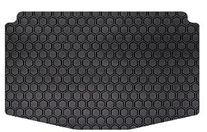 Intro-Tech Hexomat Cargo Area Custom Floor Mat for Select Land Rover LR4 Models - Rubber-like Compound (Black)