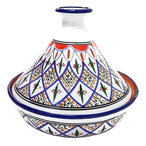 Le Souk Ceramique Cookable Tibarine Tagine, Large, Multicolor