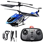 ToyJoy M310 3.5 Channel Ready to Fly Remote Control Top Speed Electric Helicopter Vehicle Model Gyroscope System LED Light Fan Blades Blance Bar Unit Accessories (Blue)