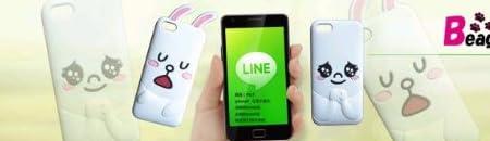 iPhone5 ケース/LINE シリコンケース ブラウン(2678)