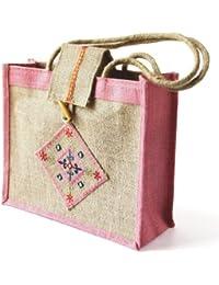 Grehom Handbag - Matrix Pink; Made Of Eco-friendly Jute