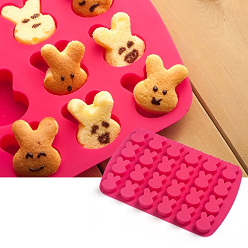 Wilton Silica Gel Baking Mould Rabbit Chocolate Biscuits Mould Cake Panocha Jelly Mold
