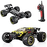 2.4G RC Cars 33MPH Monster Hobby Truck Remote Control Off Road Buggy Toys (Yellow)