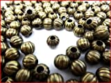【HARU雑貨】金古美 10g約37個/ビーズパーツ ボール  直径6mm/金具 パーツ