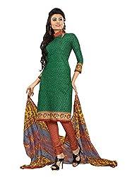 Khushbu Textile Women's Cotton Unstitched Salwar Suit (9002_Multicolor_Free Size)