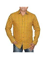 Hunk Men's Golden Cotton Shirt