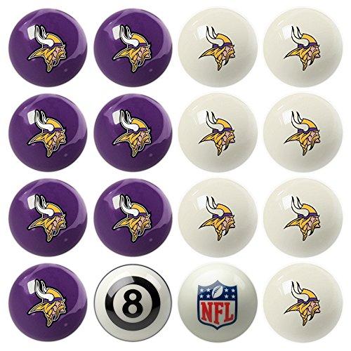 Nfl Minnesota Vikings Home Versus Away Team Billiard 8-Ball Set front-260893
