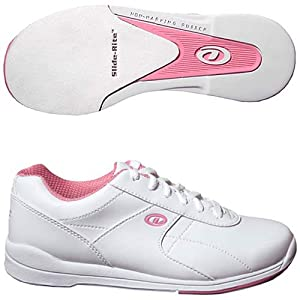 Dexter Raquel III Bowling Shoes, White/Pink, 9.5