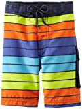 Kitestrings Boys 2-7 Stripe Microfiber Swim Trunk