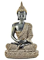 Thai Blessing Zen Buddha Meditating Peace Harmony Statue - Collectors Items