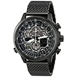 Citizen JY8037-50E Navihawk A-T Eco-Drive Analog-Digital Black Stainless Steel Watch