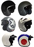 VIPER RS-V06 MOTORCYCLE MOTORBIKE TOURING NEW STYLE DESIGN OPEN FACE JET HELMET WITH CARGO NET (L, White (With Peak))