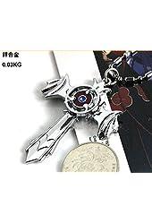 Naruto sharingan cross necklace