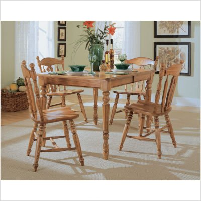 Buy Low Price Cochrane Cochrane 85-154 Set Thresher's Too Rectangular Dining Table in Distressed Antique Oak (85-154 Set)