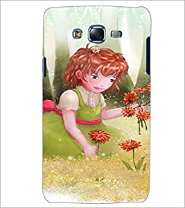 PrintDhaba Girl with Flowers D-2656 Back Case Cover for SAMSUNG GALAXY ON 5 (Multi-Coloured)