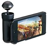 プリンストンテクノロジー BubblePix社製 iPhone 5用360°パノラマ撮影キット bubblescope (ブラック) BUBSCOIP5