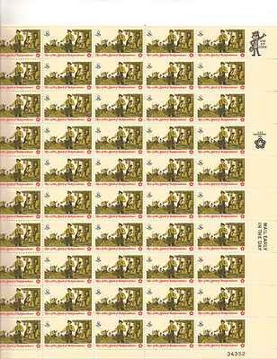 Rise of the Spirit of Independence #4 Sheet of 50 x 8 Cent US Postage Stamp 1479