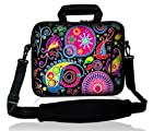 Waterfly? Colorful Pattern Design 9.7 10 10.2 inch Laptop Netbook Computer Tablet PC Shoulder Case Carrying Sleeve Bag Pouch Cover Protector Holder With Extra Pocket For Apple iPad 2, 3, 4,5 Air/ Acer AO532h-2588/ Acer Aspire One AOD270-1410/ASUS Transformer TF101-A1/ASUS Eee PC And Most 9.7 10 10.1 10.2 Inch Netbook Tablet PC