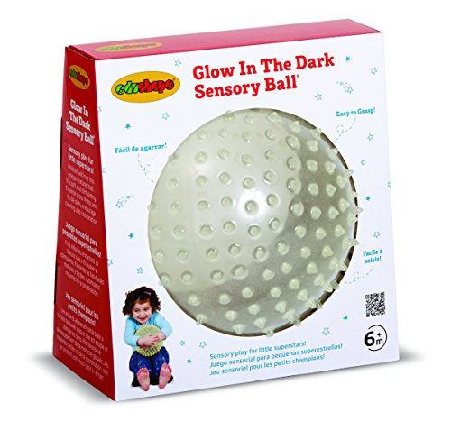Edushape Glow In The Dark Sensory Ball Green/Blue - 1