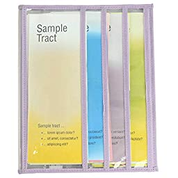The Easy Watchtower Magazine and Tract Holder - Clear with Lilac Edging
