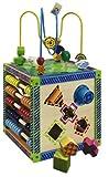 Eichhorn 100002235 - buntes Holz-Spielcenter, inklusive Motorikschleife und Zählrahmen, 20x20x36 cm