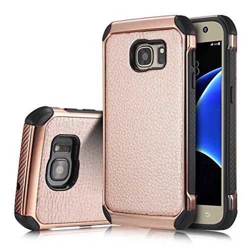 Galaxy S7 Edge Case, Samsung Galaxy S7 Edge Case,Jnli Leather Flip Protective Premium PU Leather Cover for Galaxy S7 Edge Case (dan fen) (Yugioh Crystal Defender compare prices)