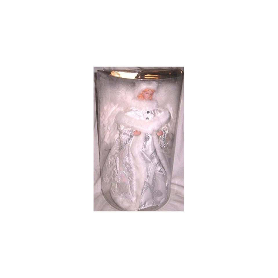 Silver & White 16 Angel Christmas Tree Topper