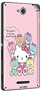 GsmKart SXC Mobile Skin for Sony Xperia C (Pink, Xperia C-604)
