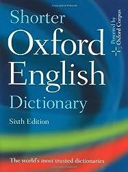 Shorter Oxford English Dictionary en 2 volumes (Edition avec CD-Rom)