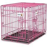"""Aspen Pet Puppy 2-Door Training Retreat Crate, 24"""", Pink"""
