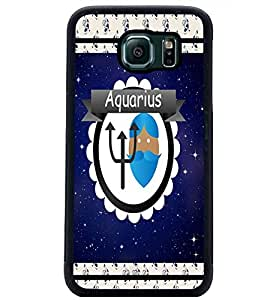 PrintDhaba Zodiac Aquarius D-2772 Back Case Cover for SAMSUNG GALAXY S6 EDGE (Multi-Coloured)