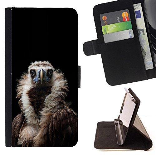 - condor bird black vulture nature feather - - PU Premium Custodia portafoglio in pelle con fessure per carta, contanti staccabile cinturino da pol Funny HouseFOR Apple Iphone 5 / 5S