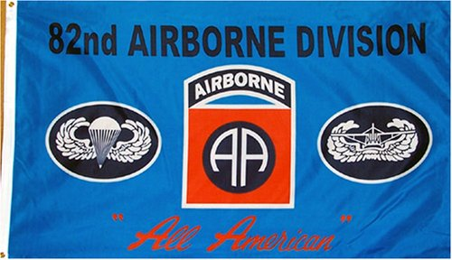 """82nd Airborne """"Blue"""" MILITARY Flag - 3 foot by 5 foot Polyester (NEW)"""