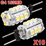 10 G4 Warm White 15 SMD LED Camper Ma...