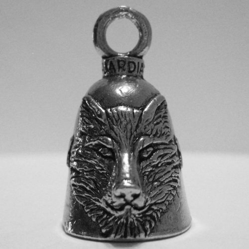 Guardian® Wolf Head Motorcycle Biker Luck Gremlin Riding Bell or Key Ring