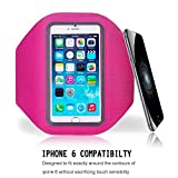 TRAVELLOP Pro Sport Armband for iPhone 6(4.7), - Best for workouts, running, cycling, or any fitness activity outside or in the gym - Listen to your favorite motivating music while your phone is held securely on your arm. (slim pink)